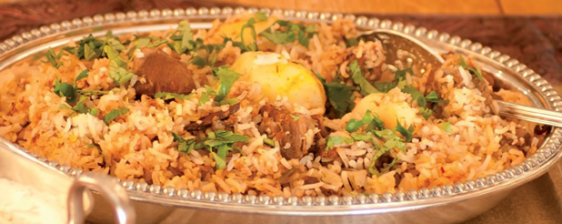 Lamb/Chicken biryani - click image for recipe